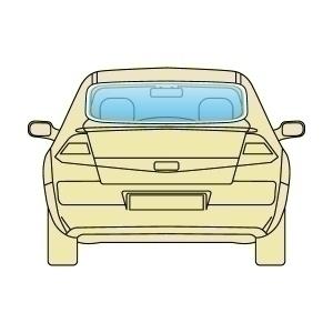 Стекло заднее Audi A6 2011+