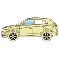 Стекло боковое Acura MDX 2013+