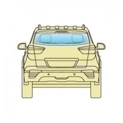 Скло заднє Audi Q7 2006+